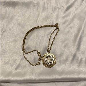 Lucky Brand Floral Pendant Necklace | 30""